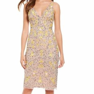 Gianni Bini Floral Sequin Formal Dress 10 NWT